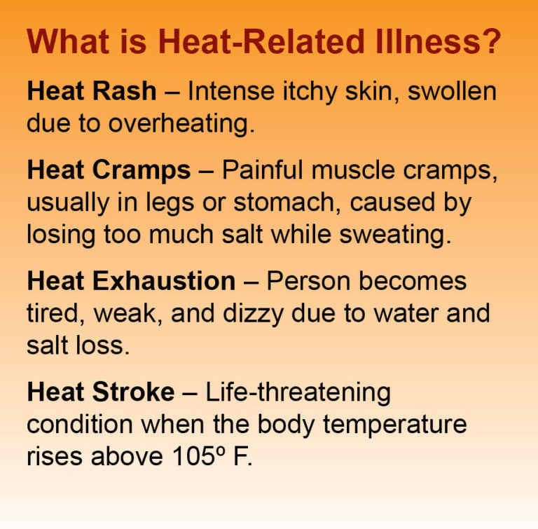 what is heat illness infographic